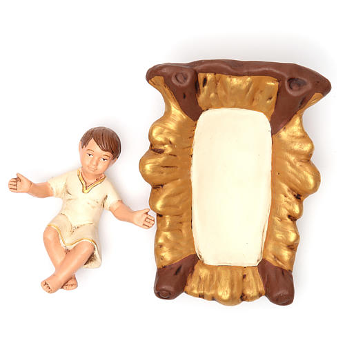Nativity painted Terracotta 30cm 5 pcs 5