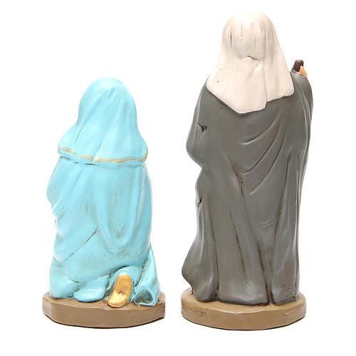 Nativity painted Terracotta 30cm 5 pcs 6