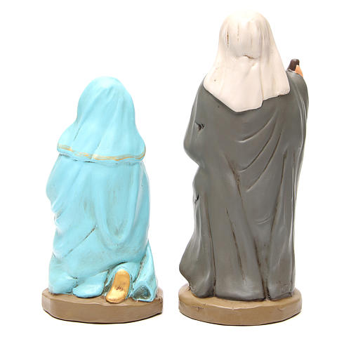 Nacimiento terracota pintada 30 cm 5 estatuas 6