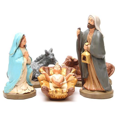 Święta Rodzina terakota malowana 30cm 5 elementów 1