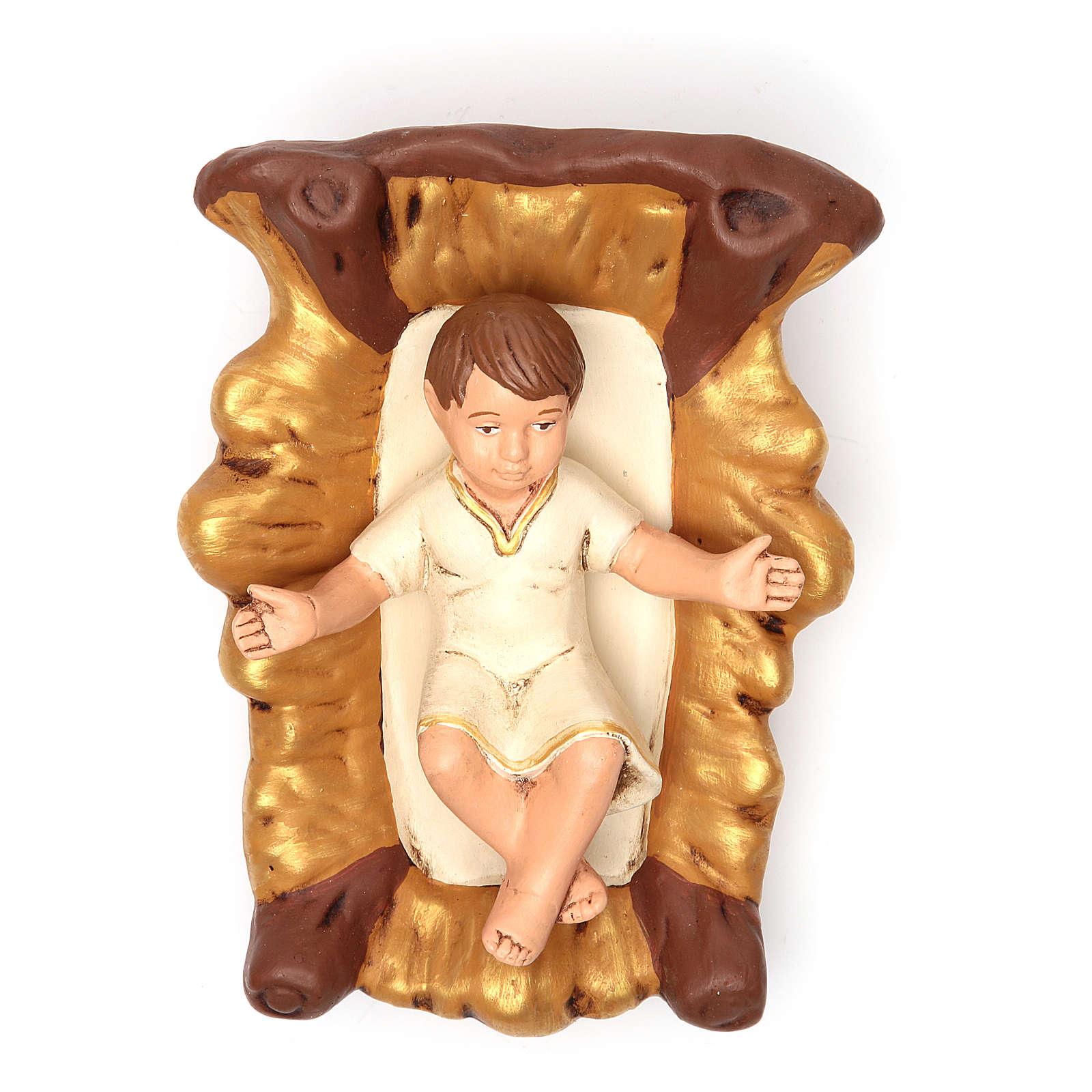 Natividade terracota pintada 30 cm 5 peças 4