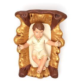 Natividade terracota pintada 30 cm 5 peças s4