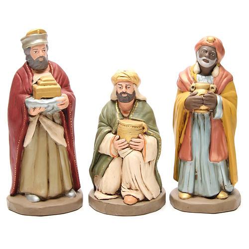 Wise Men golden Terracotta nativity 30cm 1