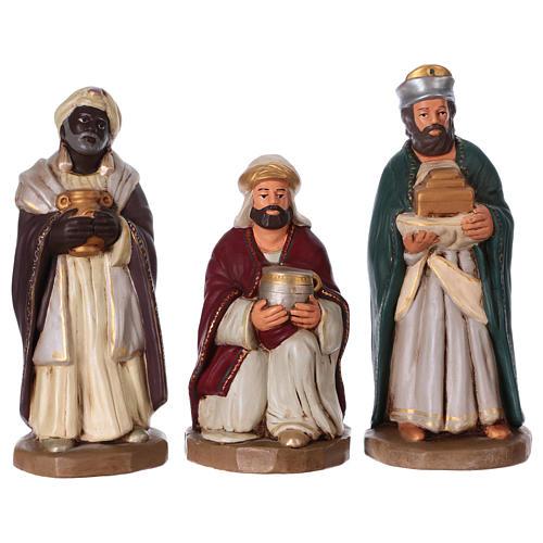 Rois Mages terre cuite décorée crèche de 30 cm 5