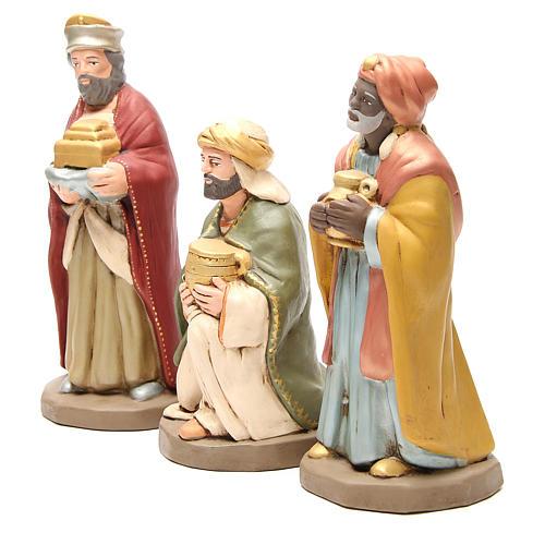 Wise Men golden Terracotta nativity 30cm 2