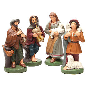 Shepherds painted terracotta 30cm 4 pcs s1