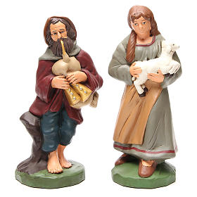 Shepherds painted terracotta 30cm 4 pcs s2