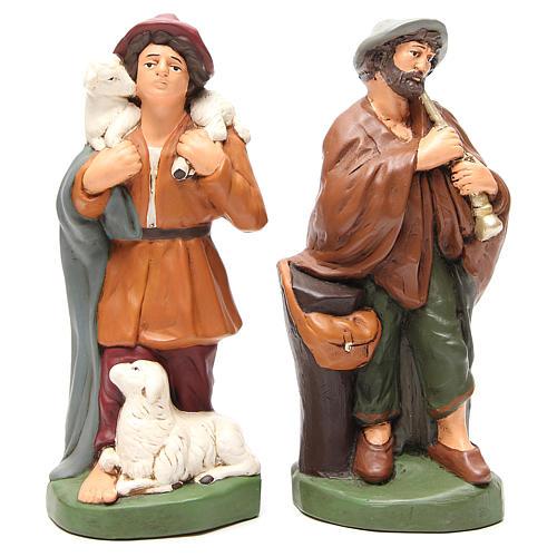 Pastores terracota pintada belén 30 cm, 4 figuras 3