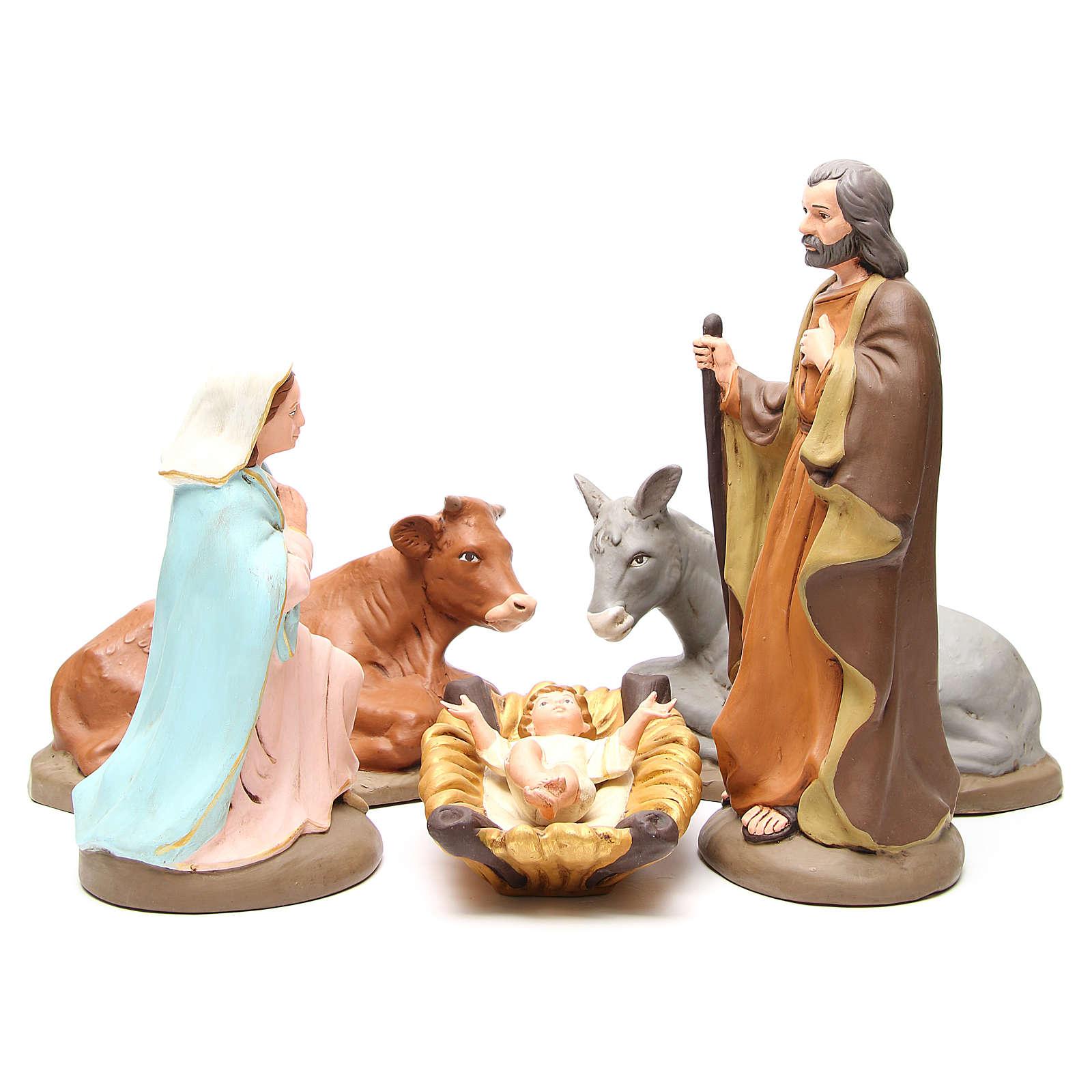 Nativity terracotta with decoration 40cm - 5 pcs 4