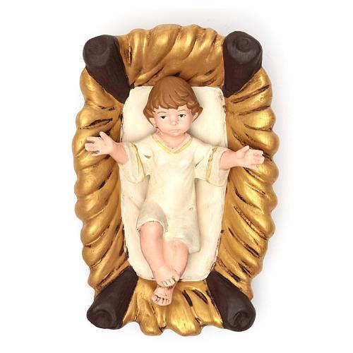 Nativity terracotta with decoration 40cm - 5 pcs 3