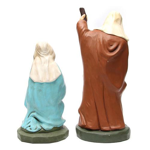 Nacimiento 50 cm terracota pintada 5 estatuas 7