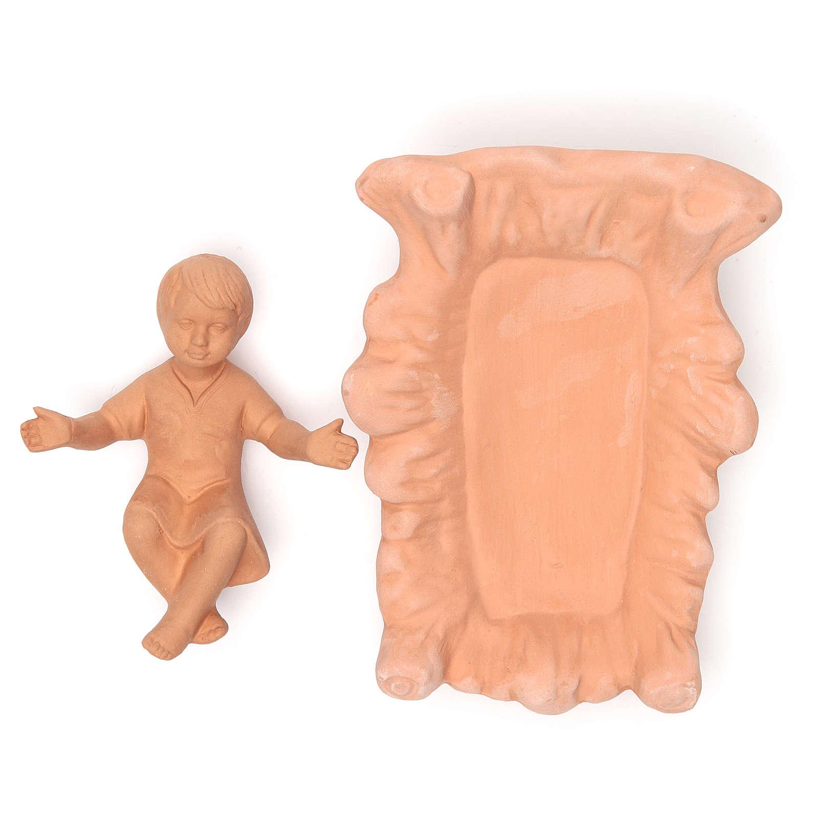 Nacimiento en terracota natural 30 cm - 5 figuras 4