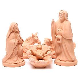 Nacimiento en terracota natural 30 cm - 5 figuras s1