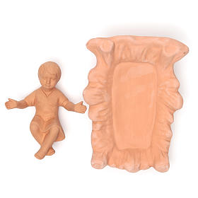 Nacimiento en terracota natural 30 cm - 5 figuras s5