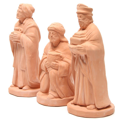Re Magi Terracotta naturale presepe da 30 cm 2