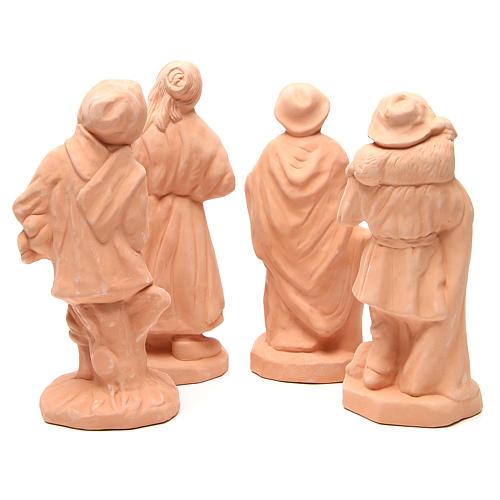 Pastores terracota belén 30 cm de altura media - set 4 piezas 4