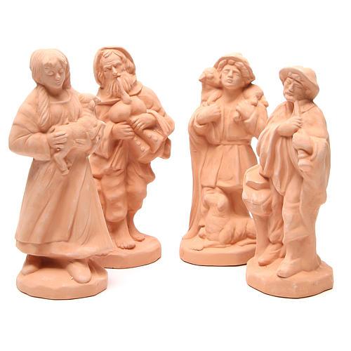Shepherds terracotta nativity 30cm - set 4 pcs 1
