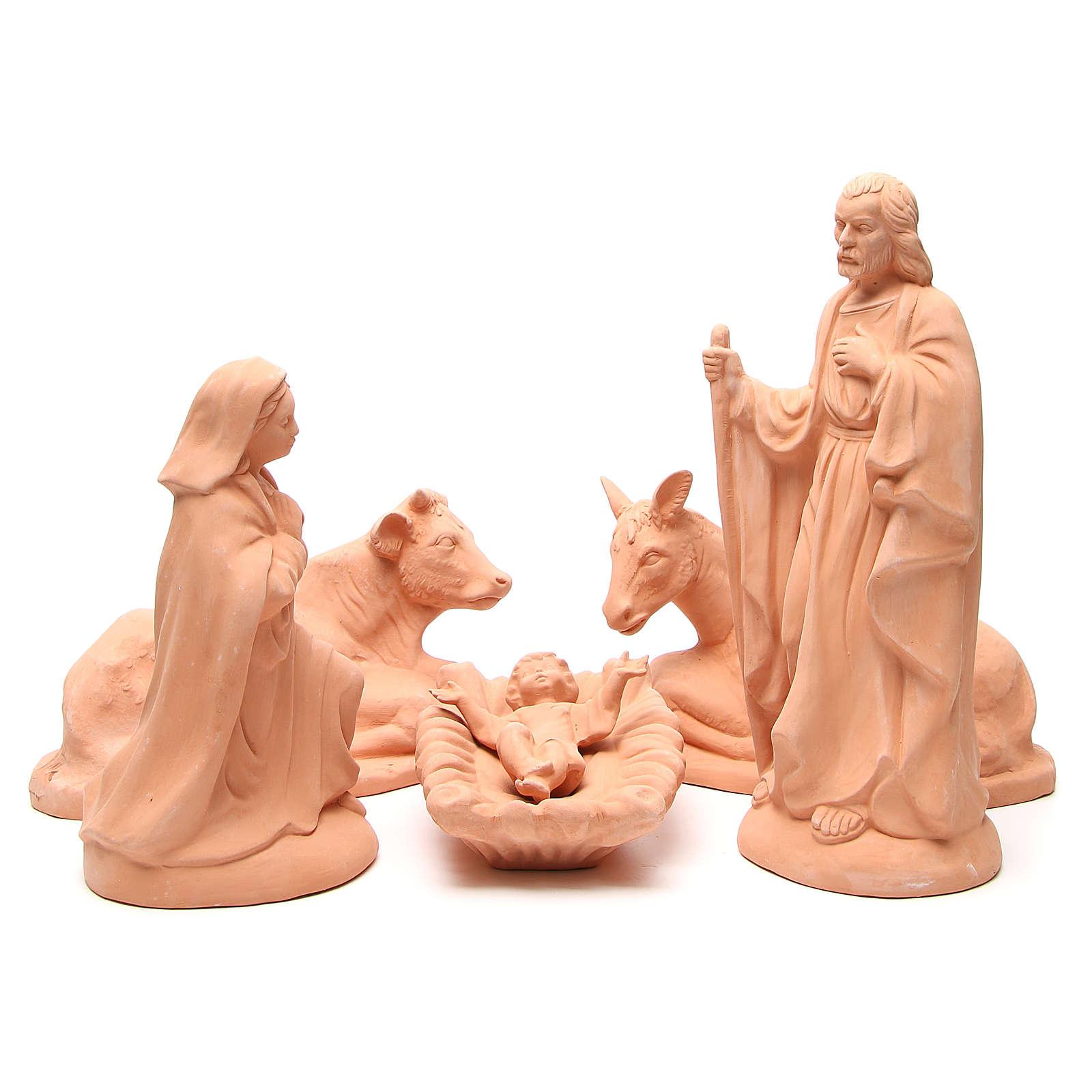Nativity in Terracotta 40cm - 5 pcs 4
