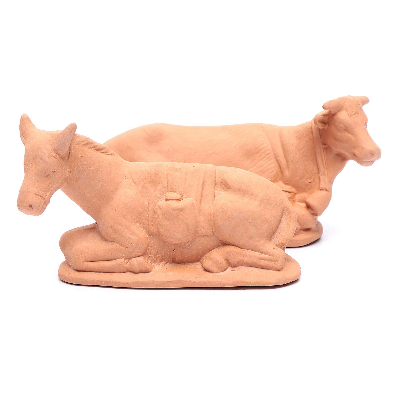 Presepe terracotta naturale 15 statuine 20 cm 4
