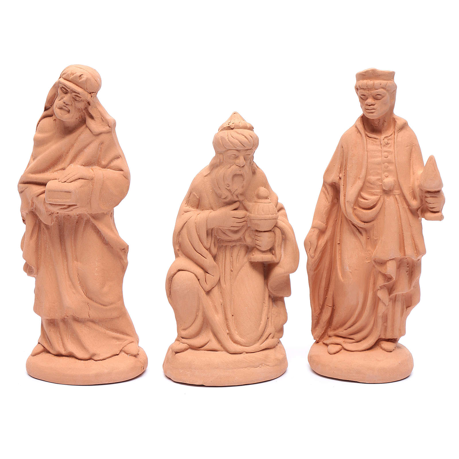 Nativity set in natural clay 15 figurines 20cm 4