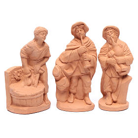 Nativity set in natural clay 15 figurines 20cm s4