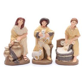 Belén terracota pintada estilo elegante 15 estatuas 20 cm s4