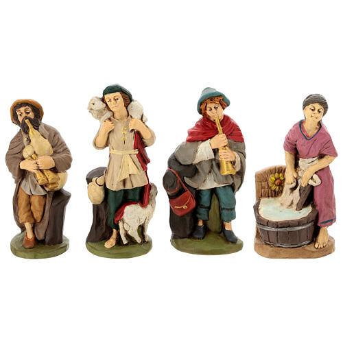 Belén terracota pintada 15 estatuas 20 cm 5
