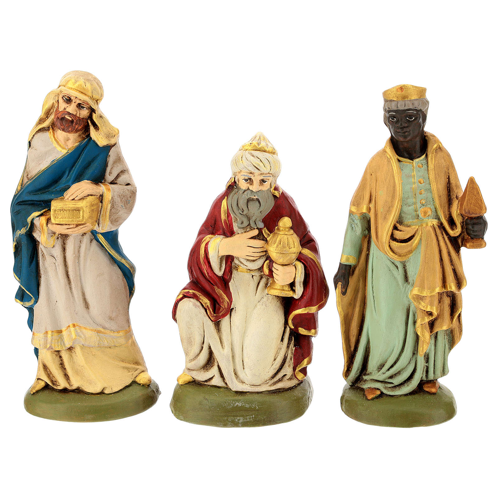Presepe terracotta dipinta 15 statuine 20 cm 4