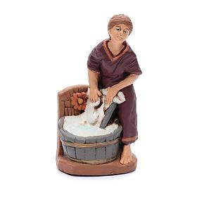 Presepe terracotta dipinta 15 statuine 20 cm s6