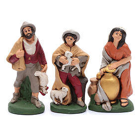 Nativity set in painted clay 15 figurines 20cm s4