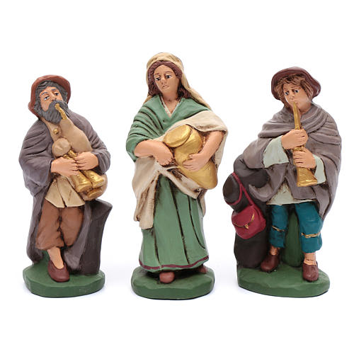 Nativity set in painted clay 15 figurines 20cm 5