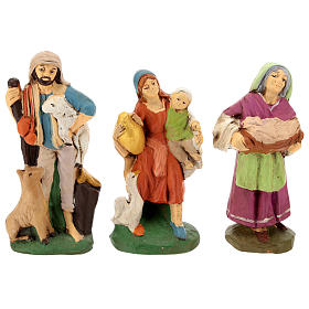 Nativity set in painted clay 15 figurines 15cm s5