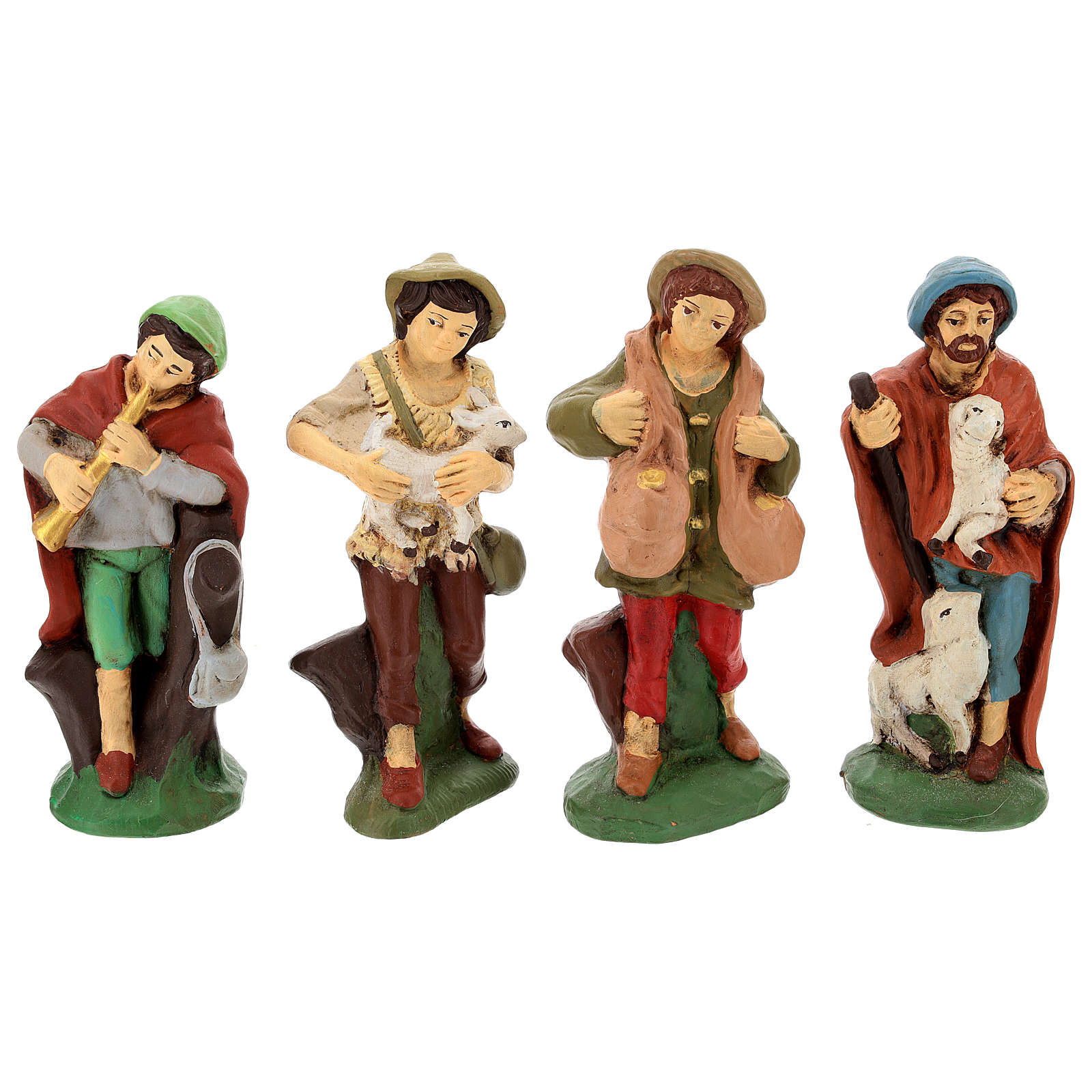 Belén terracota decorada 15 estatuas 15 cm 4