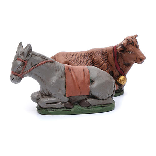 Presepe terracotta decorata 15 statue 15 cm 6