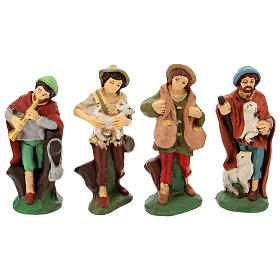 Nativity set in painted clay 15 figurines 15cm s4