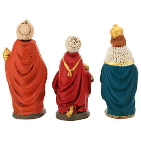 Nativity set in painted clay 15 figurines 15cm s7