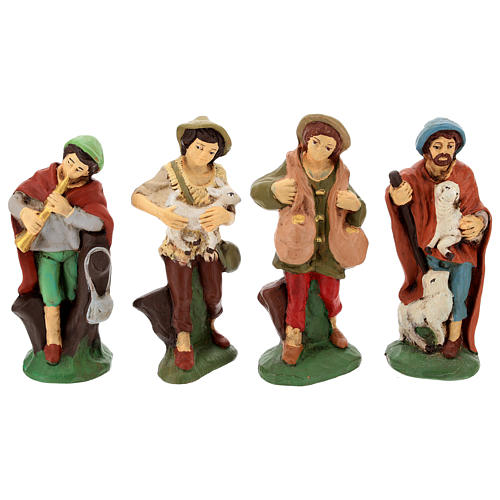 Nativity set in painted clay 15 figurines 15cm 4