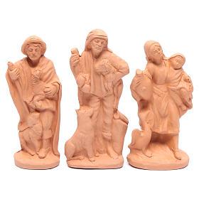 Belén terracota natural 15 estatuas 15 cm s4