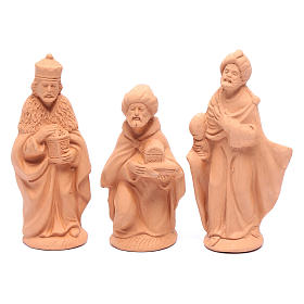 Nativity set in natural clay 15 figurines 15cm s3