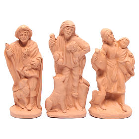 Nativity set in natural clay 15 figurines 15cm s4