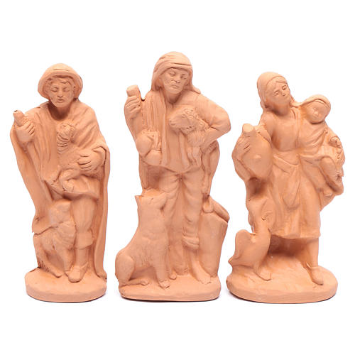 Nativity set in natural clay 15 figurines 15cm 4