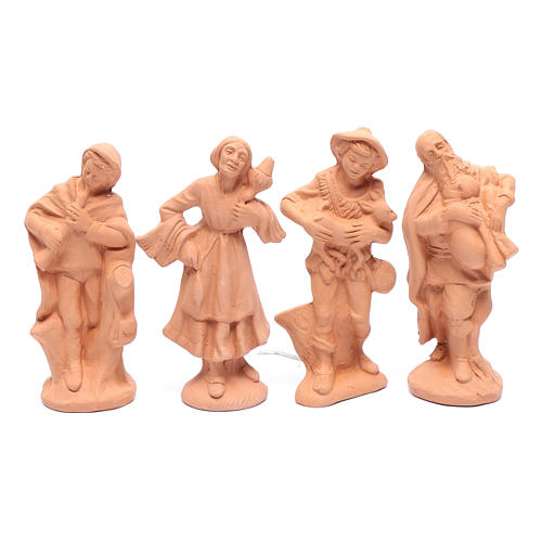 Nativity set in natural clay 15 figurines 15cm 5