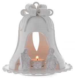 Portacandele forma campana terracotta Deruta 17 cm s1