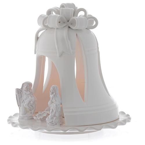 Portacandele forma campana terracotta Deruta 17 cm 2