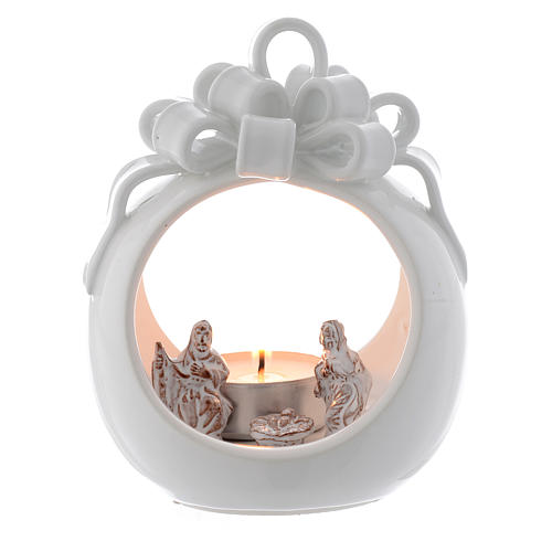 Ball shaped candle in terracotta from Deruta 12 cm 1