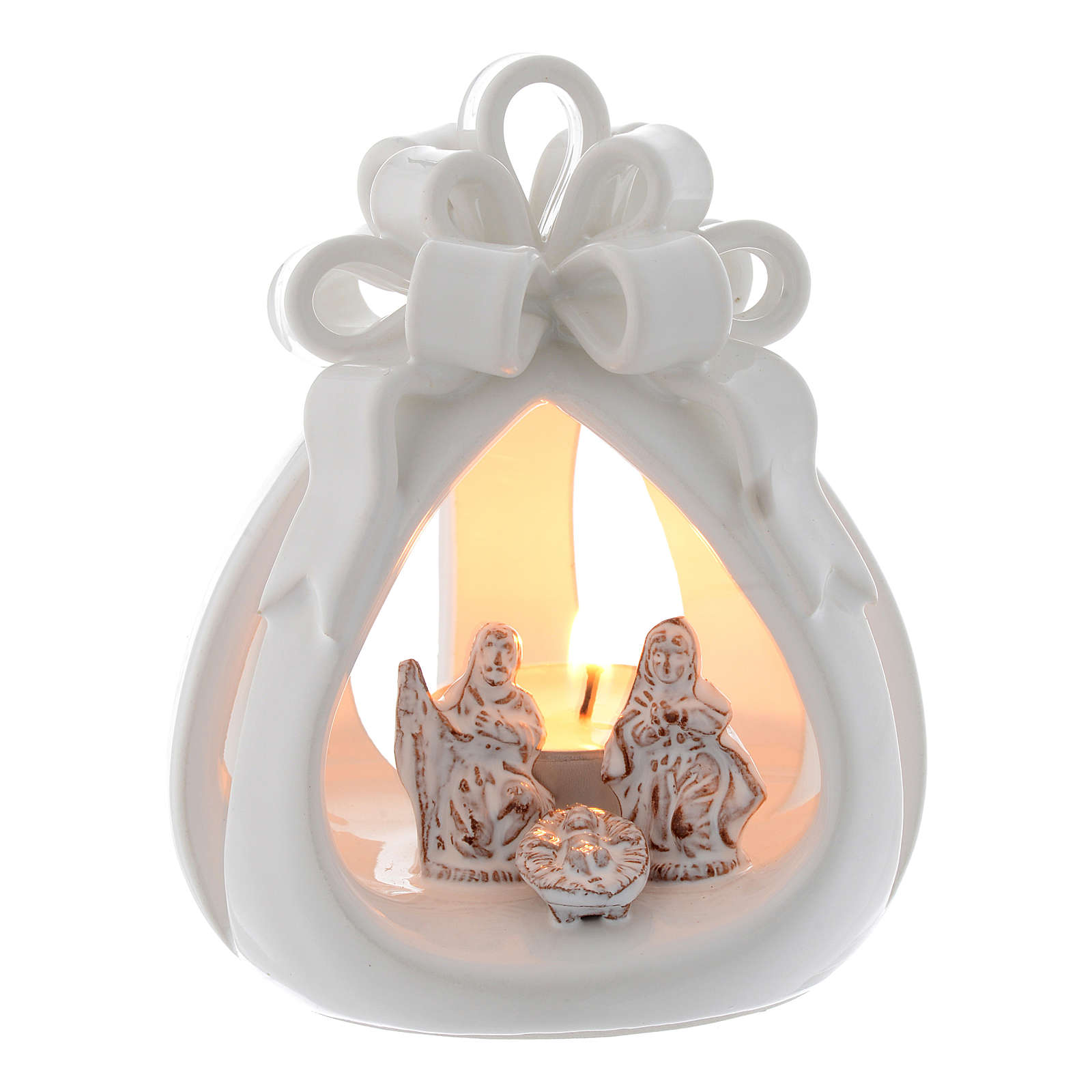 Drilled candle in terracotta from Deruta 12 cm 4