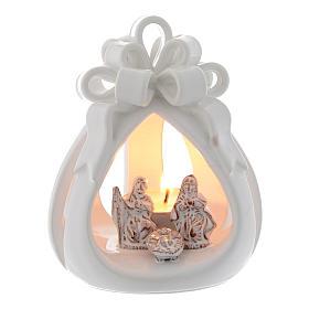 Presépio Terracota Deruta: Lanterna perfurada Natal terracota de Deruta 12 cm