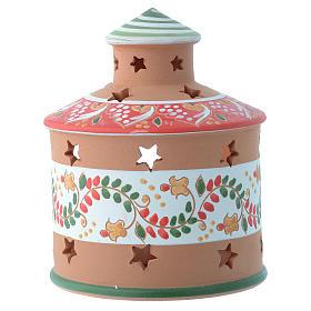 Cabaña candelero perforada de terracota Deruta 13 cm s2