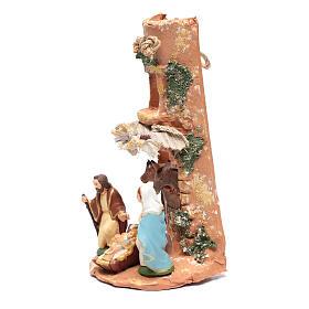 Coppo con Presepe tenda terracotta Deruta 35 cm s2