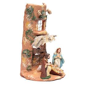 Coppo con Presepe tenda terracotta Deruta 35 cm s3